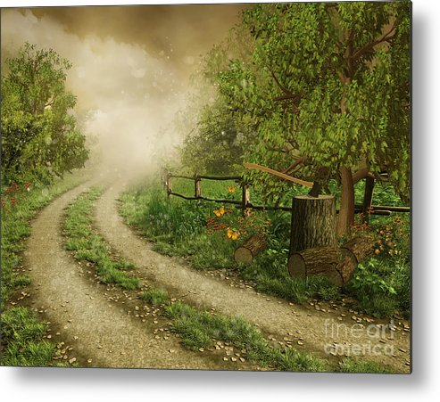 Foggy Road Metal Print featuring the photograph Foggy Road by Boon Mee