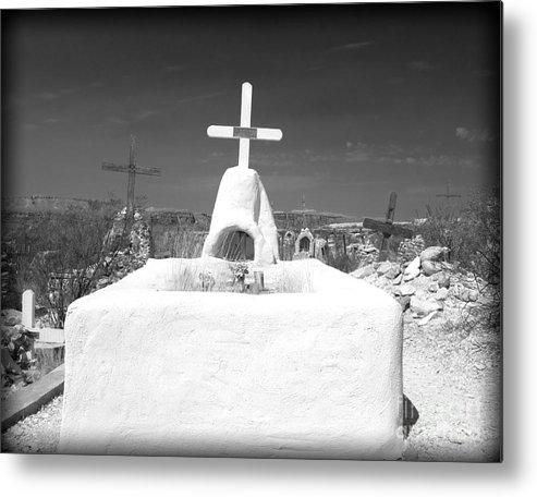Cemetery Metal Print featuring the photograph Terlingua Grave by Sonja Quintero