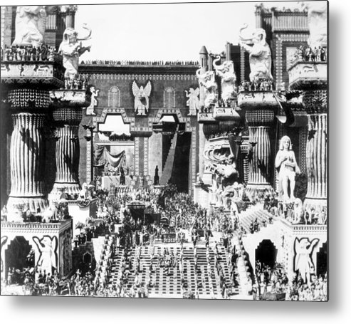 -ecq- Metal Print featuring the photograph Griffith: Intolerance 1916 by Granger
