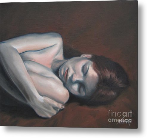 Noewi Metal Print featuring the painting Embrace by Jindra Noewi