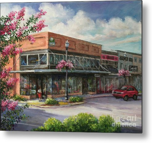 City Metal Print featuring the painting Carmen's Corner by Virginia Potter