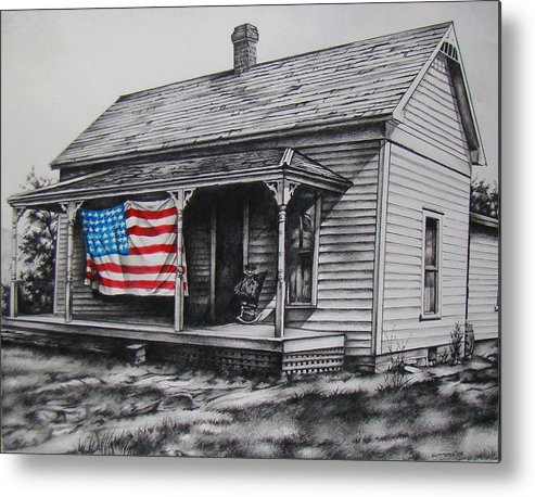 Flag Metal Print featuring the mixed media Pride by Michael Lee Summers