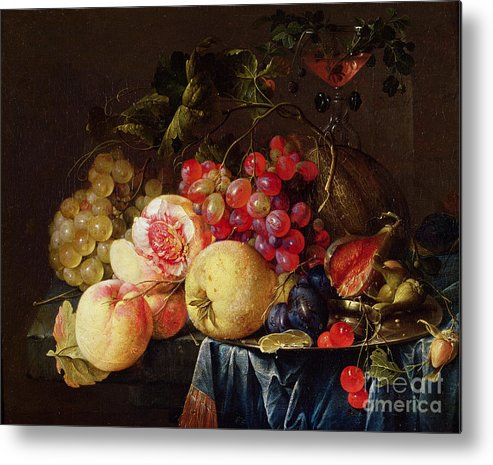 Still Metal Print featuring the painting Still Life by Cornelis de Heem
