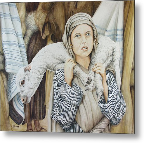 Christian Art Metal Print featuring the drawing The Sacrifice by Rick Ahlvers