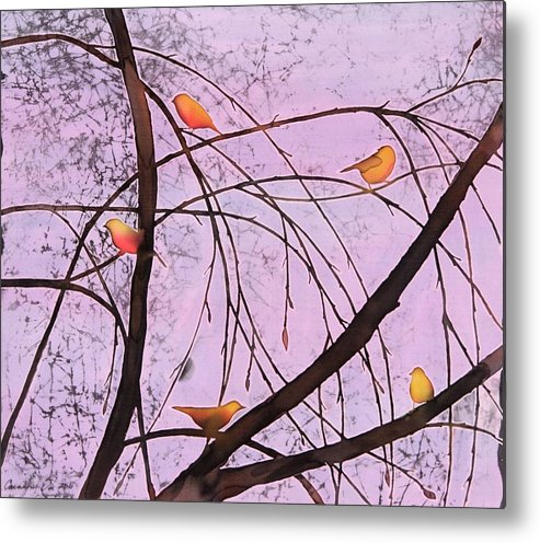 Song Metal Print featuring the tapestry - textile Early Spring 2 by Carolyn Doe