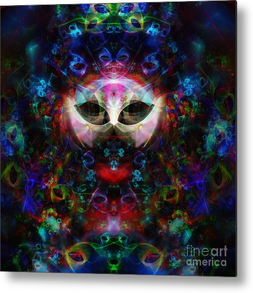 Cat Metal Print featuring the digital art Cat Carnival by Klara Acel