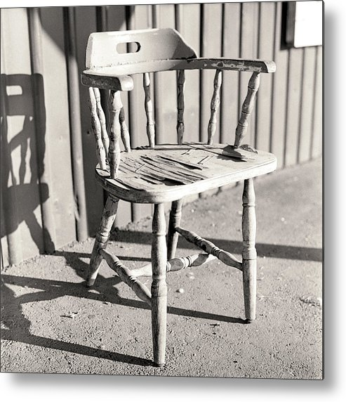 Weathered Metal Print featuring the photograph Wylie's Chair by Will Gunadi
