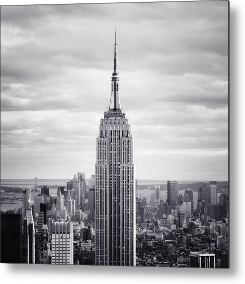 New Metal Print featuring the photograph Nyc Empire by Nina Papiorek