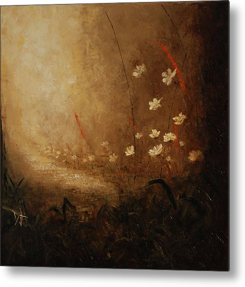 Path Metal Print featuring the painting Hidden Path by Debra Houston