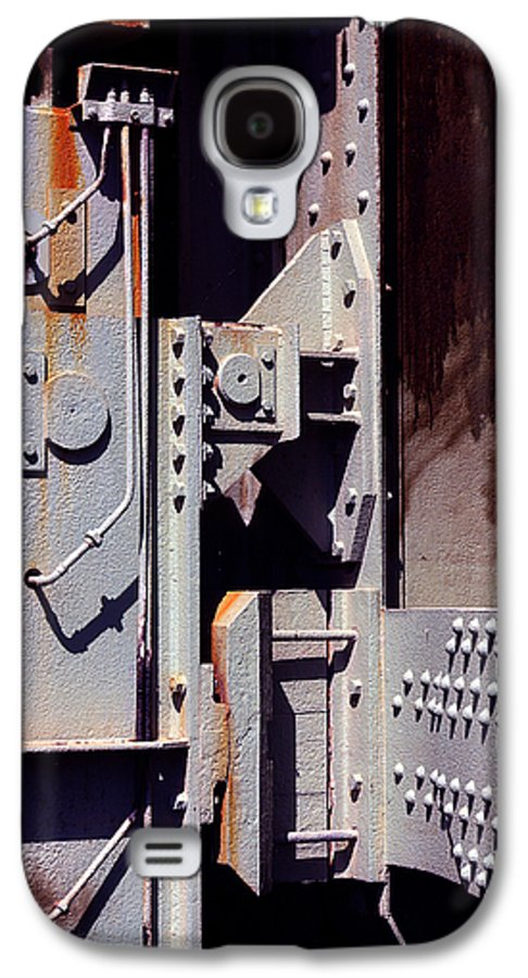 Abstract Galaxy S4 Case featuring the photograph Industrial Background by Carlos Caetano