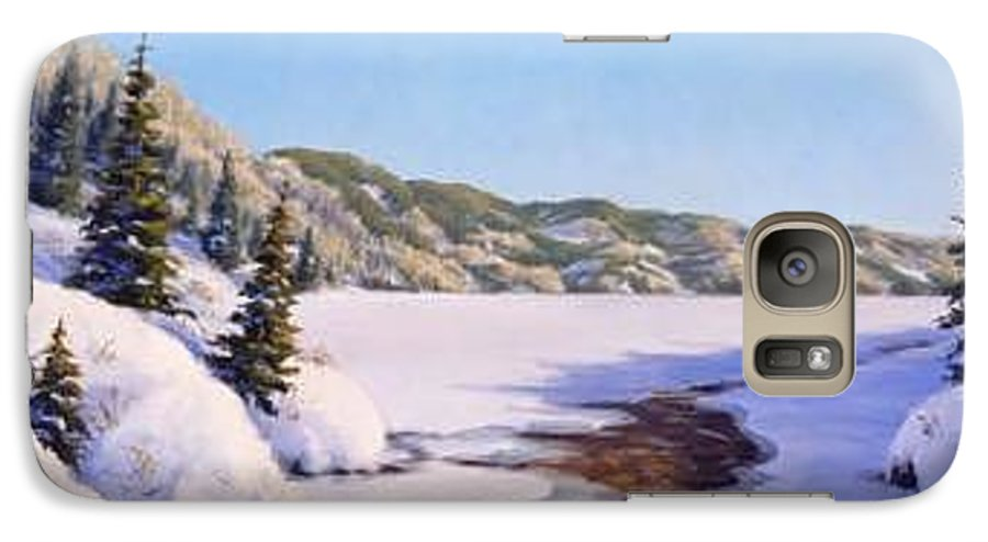 Winter Galaxy S7 Case featuring the painting March Thaw by Rick Hansen