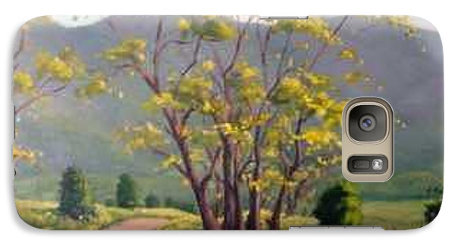 Landscape Painting Galaxy S7 Case featuring the painting Spring Valley Trail by Rick Hansen