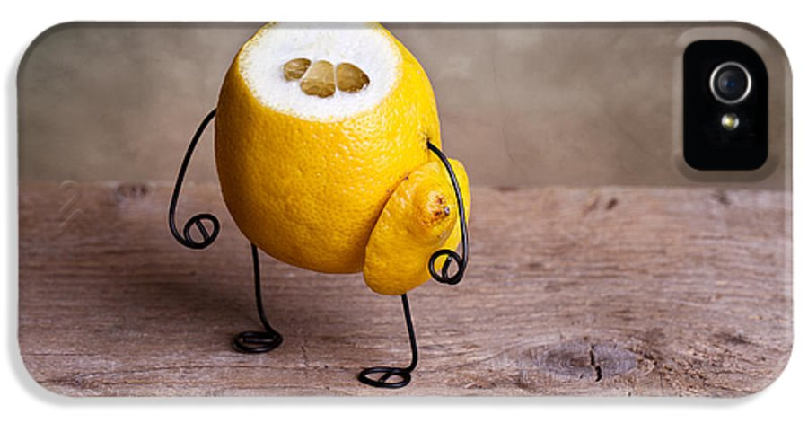 Lemon IPhone 5 / 5s Case featuring the photograph Simple Things 12 by Nailia Schwarz
