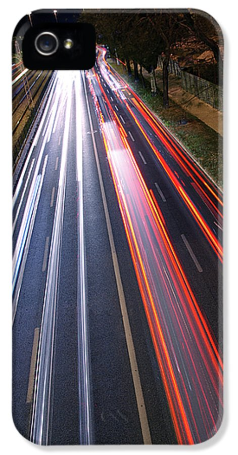 Asphalt IPhone 5 / 5s Case featuring the photograph Traffic Lights by Carlos Caetano