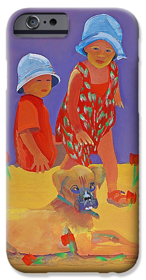 Boxer Dog IPhone 6s Case featuring the painting The Boxer Puppy by Charles Stuart