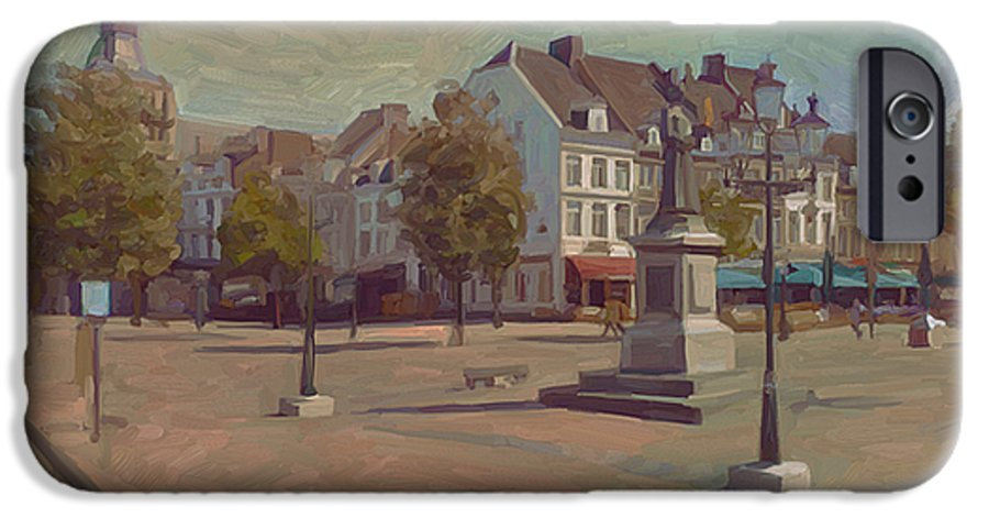 Maastricht IPhone 6s Case featuring the painting Corner Bosch Street And Market Maastricht by Nop Briex