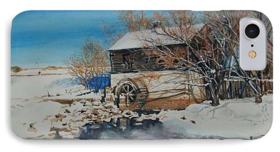 Mill IPhone 7 Case featuring the painting Grants Old Mill by Susan Moore