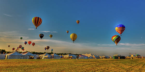 29th Annual Quick Chek New Jersey Festival Of Ballooning Poster featuring the photograph Morning Colors by David Hahn