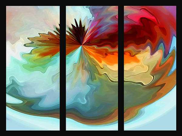 Abstract Poster featuring the photograph Center Piece 'triptych' by Terril Heilman
