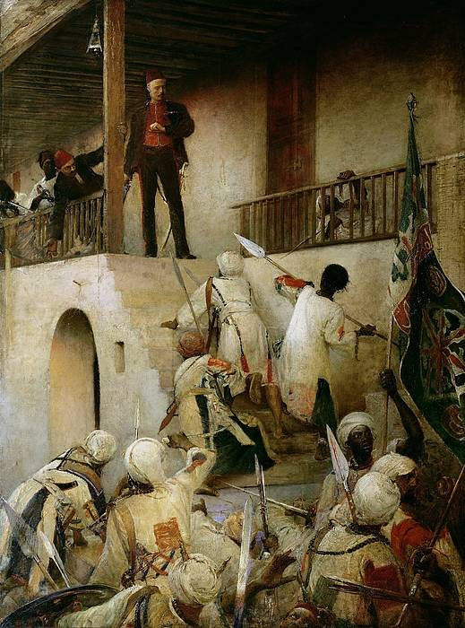 General Gordon's Last Stand (oil On Canvas) By George William Joy (1844-1925) Poster featuring the painting General Gordon's Last Stand by George William Joy