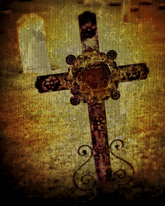 Cross Poster featuring the photograph Old Cross by Perry Webster