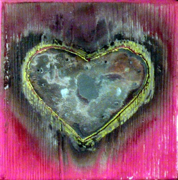 Mixed Media Poster featuring the sculpture My Heavy Heart by Jane Clatworthy