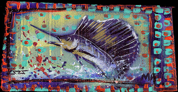Rwjr Poster featuring the painting Sailfish by Robert Wolverton Jr