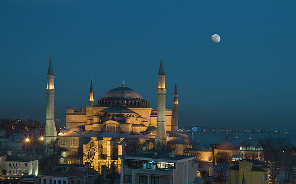 Horizontal Poster featuring the photograph Hagia Sophia Museum by Ayhan Altun