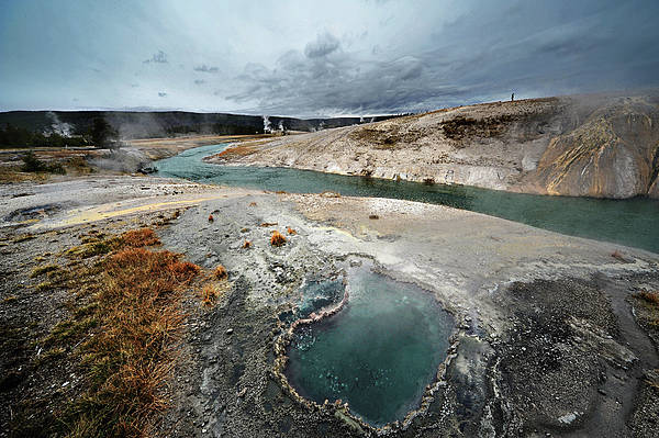 Horizontal Poster featuring the photograph Blue Hole by KH Graphic