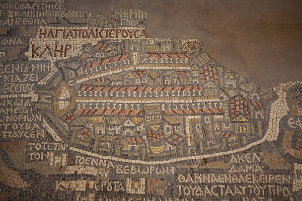 Madaba Poster featuring the photograph The Earliest Known Map Of The City by Taylor S. Kennedy