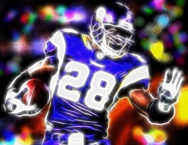 Adrian Peterson Poster featuring the digital art Magical Adrian Peterson  by Paul Van Scott