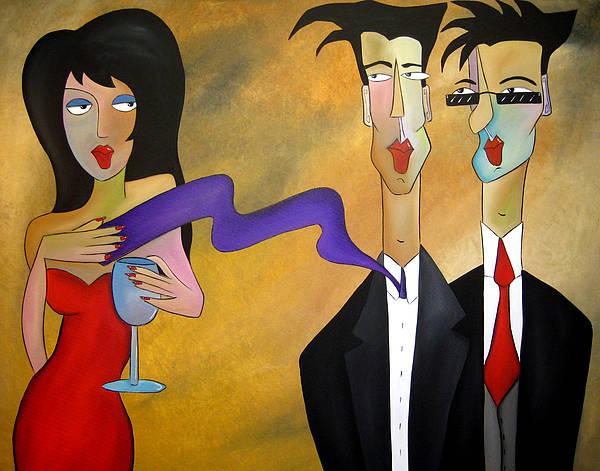 Fidostudio Poster featuring the painting Tres Chic by Tom Fedro - Fidostudio