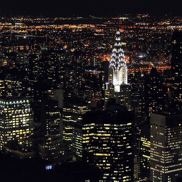 Vertical Poster featuring the photograph Chrysler Building At New York City by Philippe Brunel