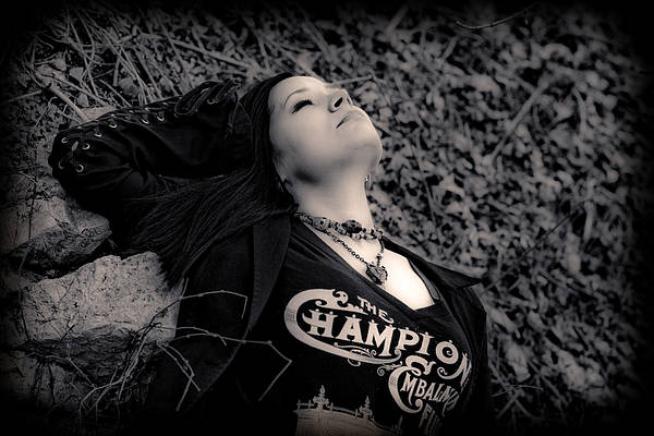 Black And White Poster featuring the photograph Goth At Heart - 2 Of 4 by Scott Wyatt