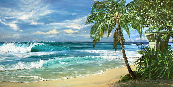 Hawaii Poster featuring the painting North Shore by Lisa Reinhardt