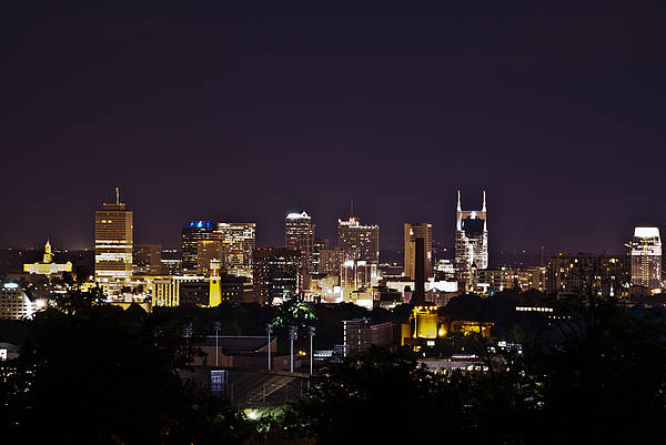 Nashville Print featuring the photograph Nashville Cityscape 4 by Douglas Barnett