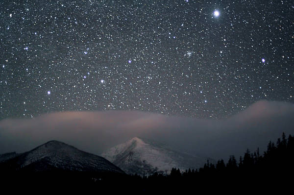 Horizontal Print featuring the photograph Stars Over Rocky Mountain National Park by Pat Gaines