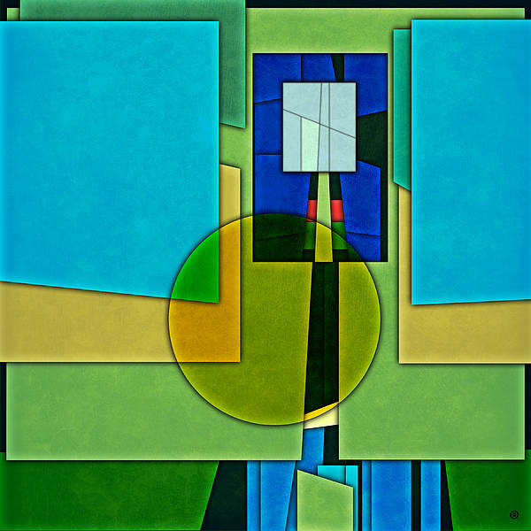 Modern Art Print featuring the digital art Abstract Shapes Color Two by Gary Grayson