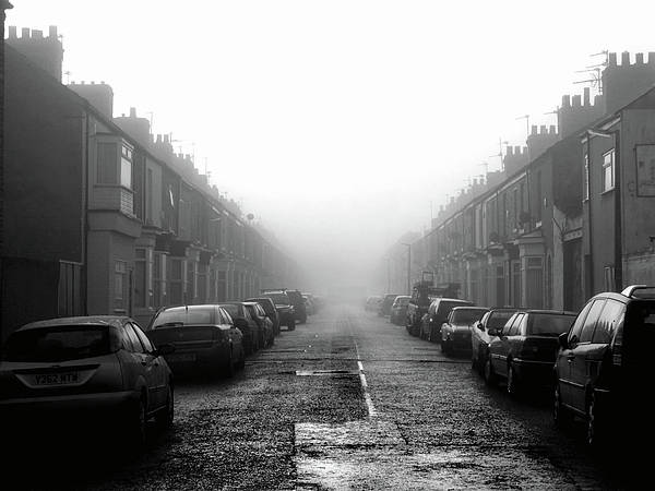 Horizontal Print featuring the photograph Foggy Terrace by Paul Downing