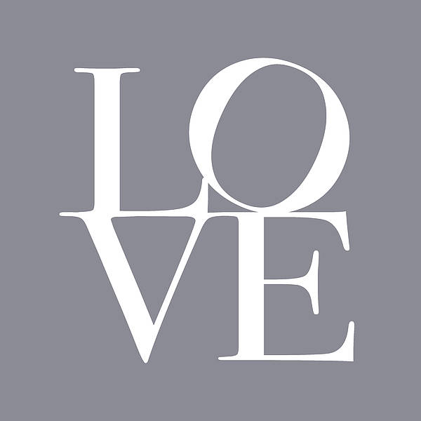 Love Print featuring the digital art Love In Grey by Michael Tompsett