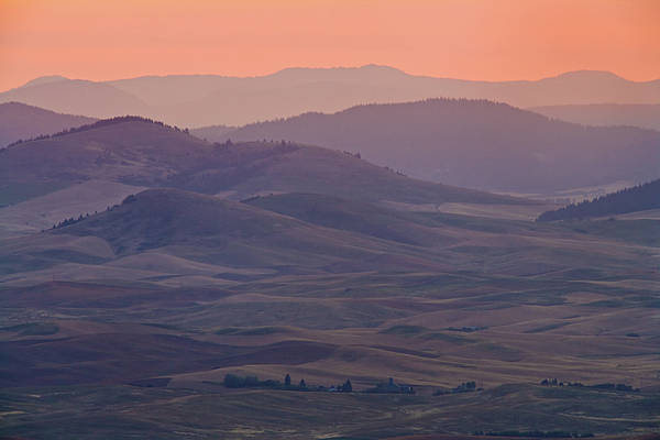 Horizontal Print featuring the photograph Palouse Morning From Steptoe Butte by Donald E. Hall