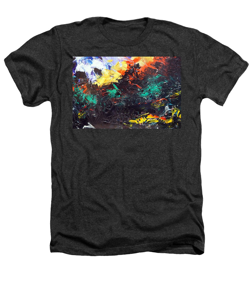 Vision Heathers T-Shirt featuring the painting Schizophrenia by Sergey Bezhinets