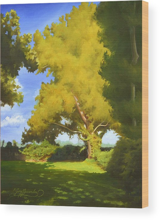 Sycamore Tree Wood Print featuring the painting Sycamore by Gary Hernandez