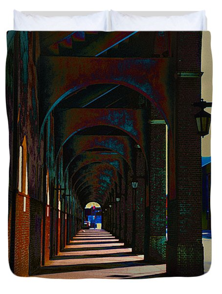 Franklin Field Concourse Arch Duvet Cover by Bill Cannon