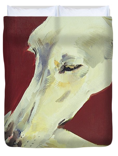 Jack Swan I Duvet Cover by Sally Muir