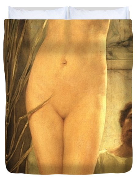 The Sculptor's Model Duvet Cover by Sir Lawrence Alma-Tadema