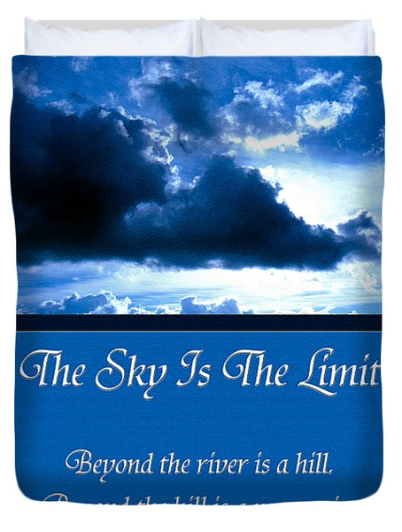 The Sky Is The Limit Duvet Cover by Andee Design