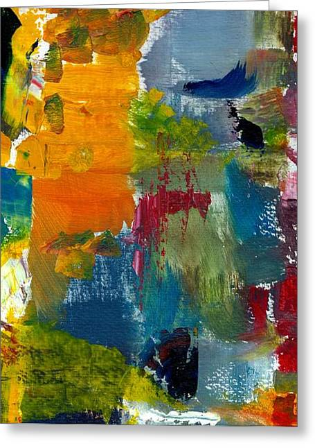 Dribble Greeting Cards - Abstract Color Relationships ll Greeting Card by Michelle Calkins