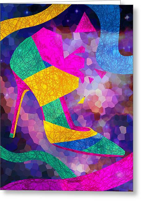 High Heels On Ropes Greeting Card by Pierre Louis