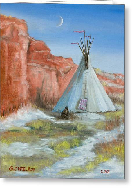 In The Canyon Greeting Card by Jerry McElroy
